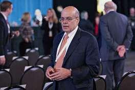Ajit Jain, head of Berkshire Hathaway Reinsurance Group, on April 30, 2016 at the annual meeting of Berkshire Hathaway in Omaha, Neb.