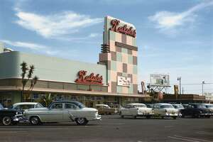 A shot of a 1950s Ralph's supermarket in California.