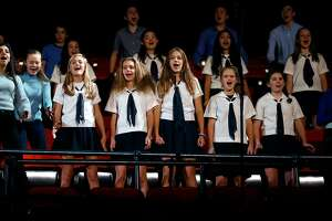 "A youth choir sings a song from ""Dear Evan Hansen"" as The Curran Theatre announces its four show 2018 main stage season in San Francisco, Calif., on Wednesday, January 17, 2018."