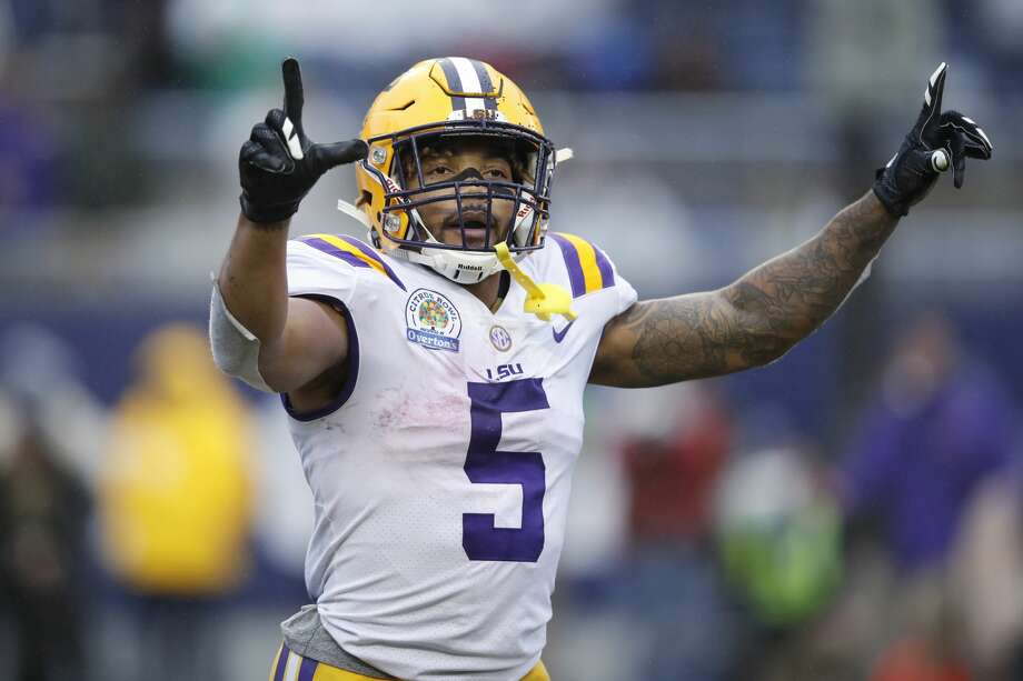 "DERRIUS GUICE, LSU5-11, 212 pounds Seattle is projected use its No. 18 overall pick to land Guice, who is one of the top rated running backs in the 2018 draft class.Washington Post's John Harris: ""Guice is completely different than former LSU star and teammate Leonard Fournette but he has the potential to be a more well-rounded NFL running back. He's built like a tank with subtle, but dangerous, cuts, vision and speed."" Photo: Joe Robbins/Getty Images"