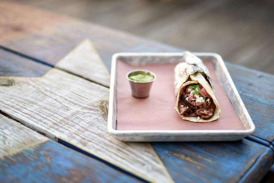 Dr Pepper Street Tacos from the Redneck Country Club in Stafford. Photo: Robert J. Lerma