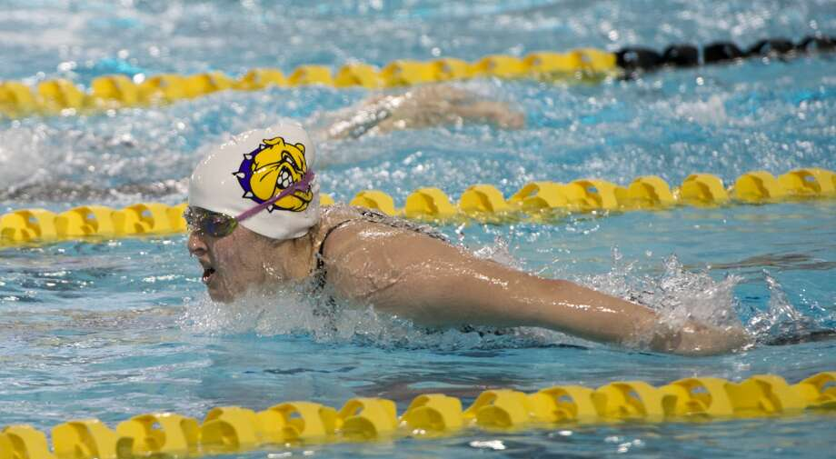 Midland High's Olivia Haskell competes 01/18/18 in the girls 100 yard butterfly, taking first place with a time of 1:01.86. Tim Fischer/Reporter-Telegram Photo: Tim Fischer/Midland Reporter-Telegram