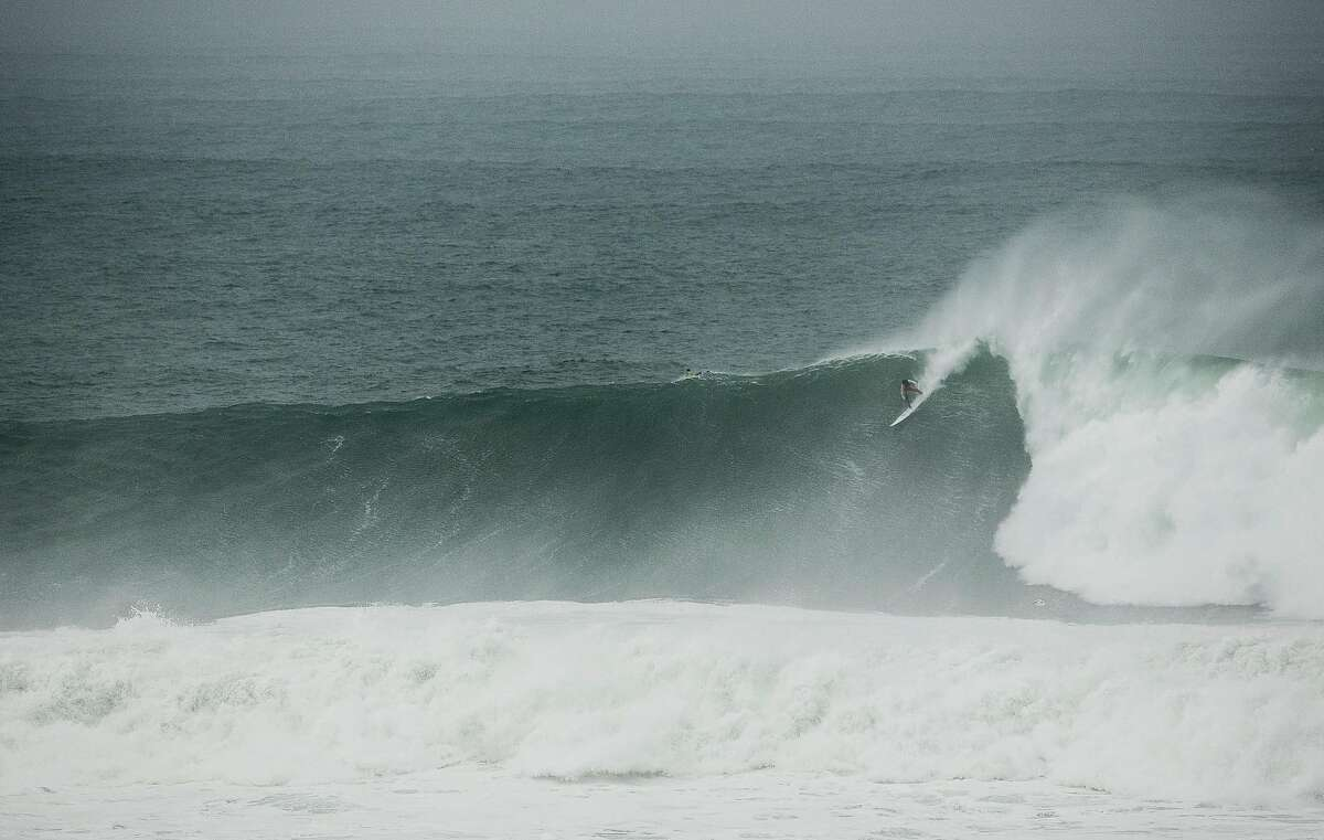 Big wave surfers challenge Mavericks on a 40 to 50 foot day at Pillar Point in Princeton-by-the-Sea, Calif. Thursday, January 18, 2018. Brian Feulner, Special to the Chronicle