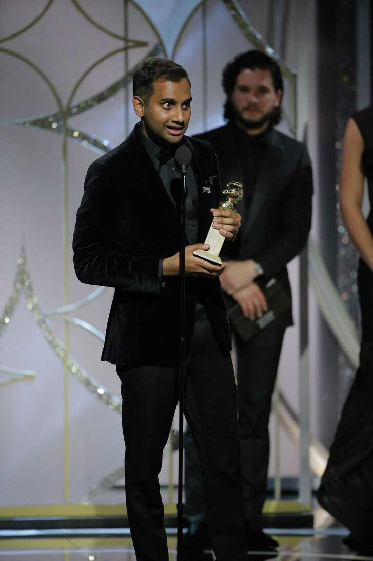 "This image released by NBC shows Aziz Ansari accepting the award for best actor in a comedy series for his role in ""Master of None,"" at the 75th Annual Golden Globe Awards in Beverly Hills, Calif., on Sunday, Jan. 7, 2018. An anonymous woman's account of what many are calling a bad date with Ansari has sparked debate about whether the #MeToo movement has gone too far. 'Though they may have wanted to be in solidarity with other women, the stories of dates gone wrong or women scorned have detracted from women who have been raped or seriously sexually assaulted,' said Carole Lieberman, a Beverly Hills psychiatrist and author of the relationship books 'Bad Boys' and 'Bad Girls.'"