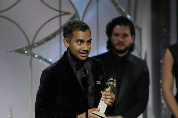"""This image released by NBC shows Aziz Ansari accepting the award for best actor in a comedy series for his role in """"Master of None,"""" at the 75th Annual Golden Globe Awards in Beverly Hills, Calif., on Sunday, Jan. 7, 2018. An anonymous woman's account of what many are calling a bad date with Ansari has sparked debate about whether the #MeToo movement has gone too far. 'Though they may have wanted to be in solidarity with other women, the stories of dates gone wrong or women scorned have detracted from women who have been raped or seriously sexually assaulted,' said Carole Lieberman, a Beverly Hills psychiatrist and author of the relationship books 'Bad Boys' and 'Bad Girls.'"""