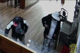 The Sugar Land Police Department is seeking the public's help in locating two men in connection with a smash-and-grab robbery at a local jewelry store.