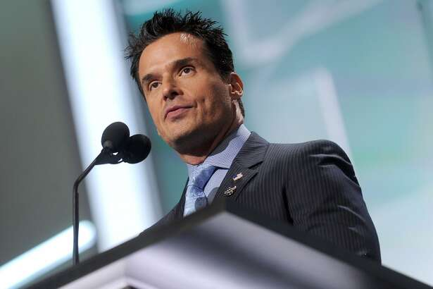 Actor Antonio Sabato, Jr. speaks during the Republican National Convention at Quicken Loans Arena in Cleveland on July 18, 2016. (Dennis Van Tine/Abaca Press/TNS)