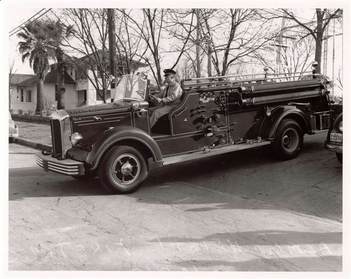The City of Alamo Heights is looking for old photos for an online archive. The photo above shows an Old Mack fire truck.