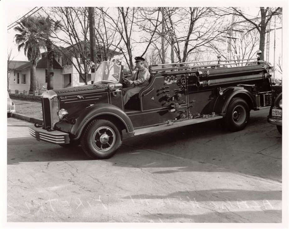 The City of Alamo Heights is looking for old photos for an online archive. The photo above shows an Old Mack fire truck. Photo: Courtesy/City Of Alamo Heights