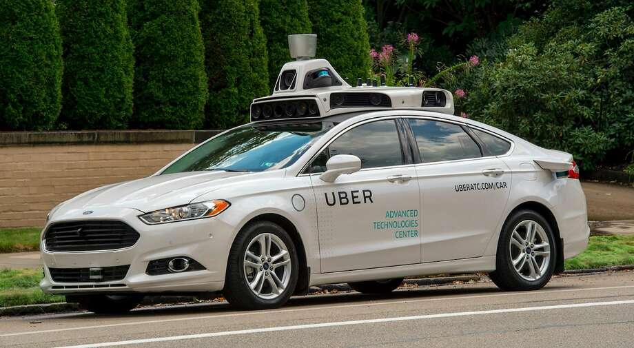 An Uber self-driving car. (Uber) Photo: Uber, TNS
