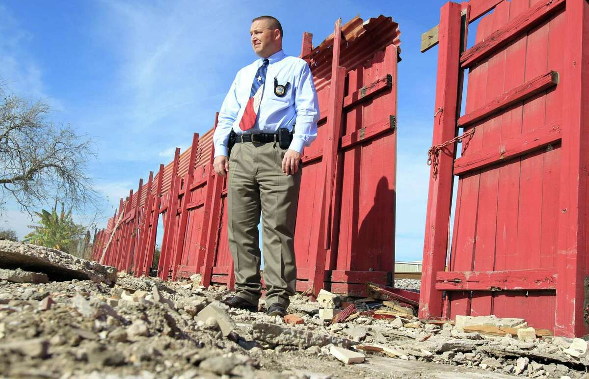 Steve Roskey, the Texas Alcoholic Beverage Commission agent whose work was key to the latest round of indictment in a major Houston-based human trafficking, walks through the rubble of the demolished La Costeñita bar in 2013, in Houston. A video by the Texas Attorney General suggests that all us can be tools to combat human trafficking.