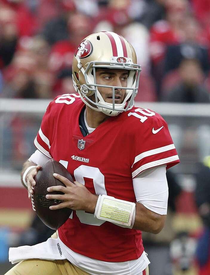 Lack of urgency on free agents shows 49ers progress toward san francisco 49ers quarterback jimmy garoppolo 10 passes against the jacksonville jaguars during the m4hsunfo