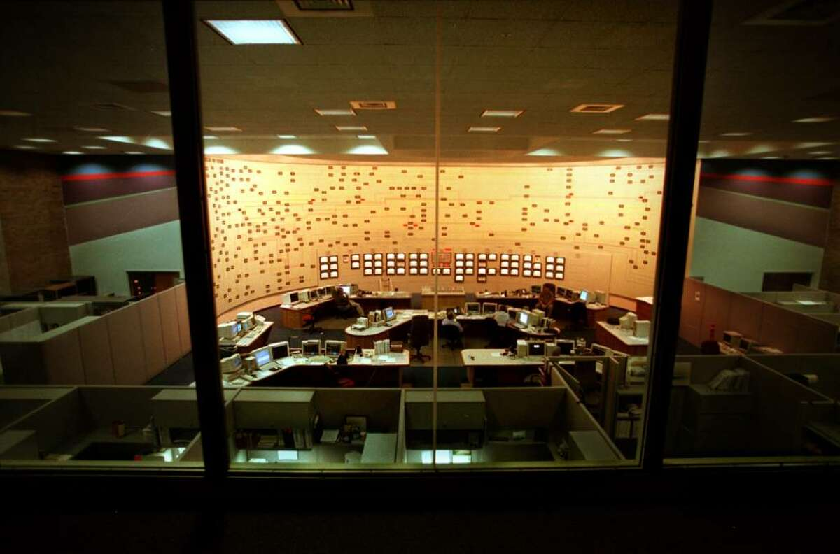 The observation floor of the control center at the New York Independent System Operator which governs a network of more than 10,000 miles of high-voltage transmission lines. (Paul Buckowski / Times Union)