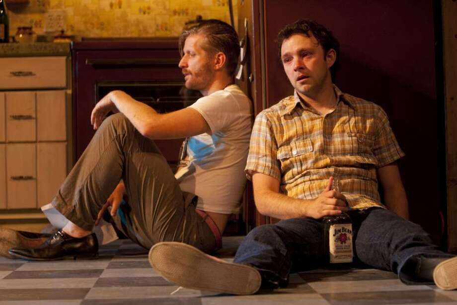"Paul Sparks and Nate Corddry star in ""True West,"" a play by Sam Shepard directed by Daniel Goldstein at the Williamstown Theatre Festival. (Charles Erickson)"