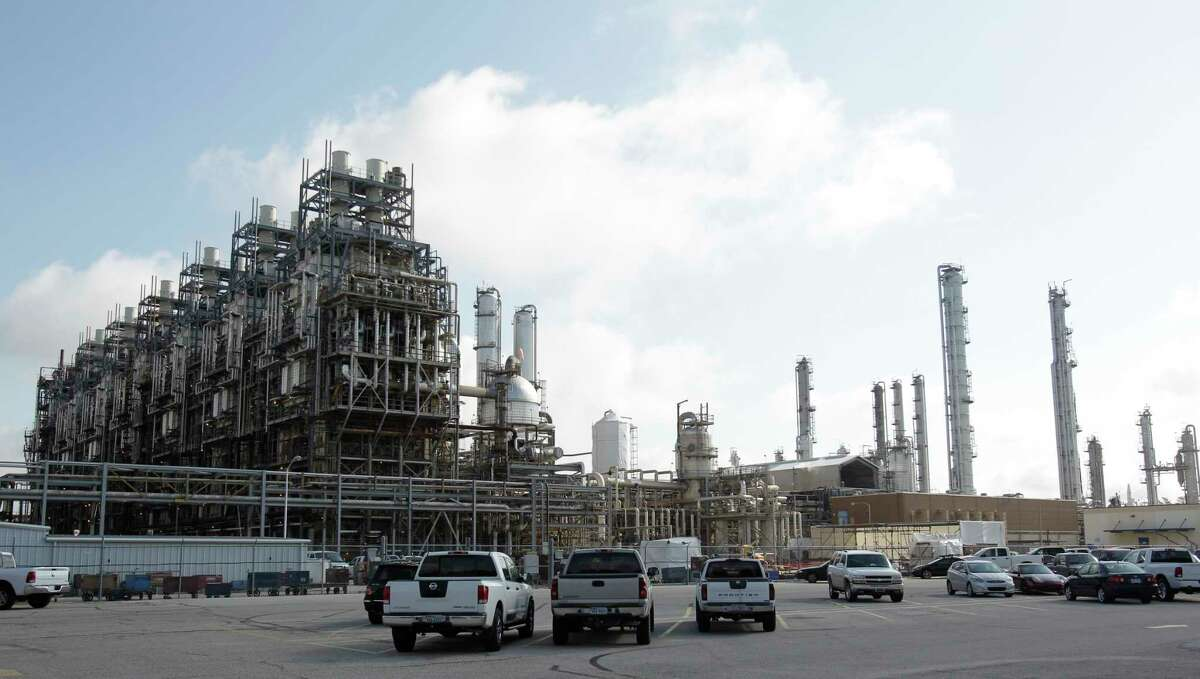 An ethylene unit is shown at the Chevron Phillips Chemical Company's Cedar Bayou Plant in Baytown.