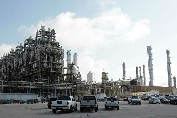 An ethylene unit is shown at the Chevron Phillips Chemical Company's Cedar Bayou Plant in Baytown.