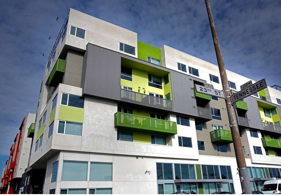 Abaca apartments at 2660 Third Street is one of a trio of large new apartment complexes in Dogpatch. Photo: Michael Macor, The Chronicle