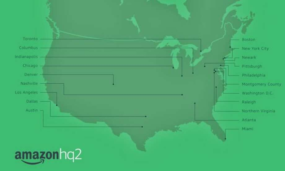 Amazon will put its second North American headquarters in one of these 20 cities. Photo: Amazon
