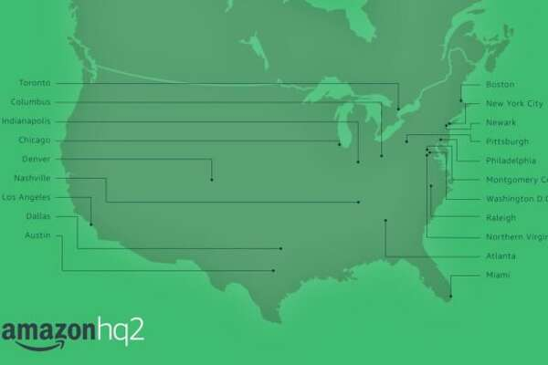 Amazon will put it's second North American headquarters in one of these 20 cities.