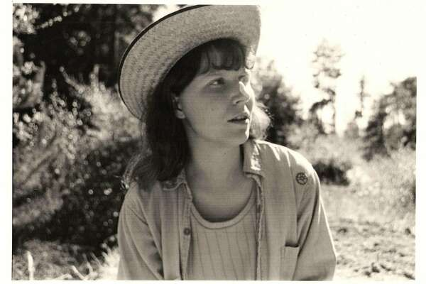 Vintage Pam with straw hat