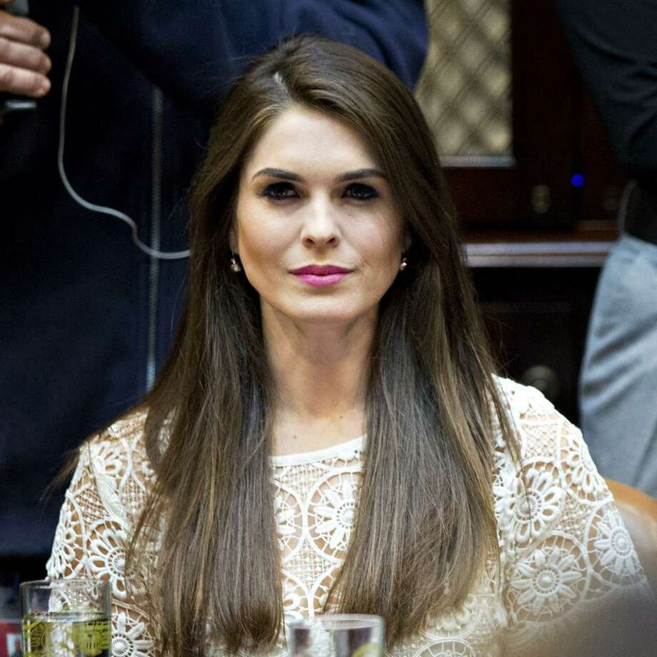 Hope Hicks, White House director of strategic communications, listens while meeting with women small business owners with U.S. President Donald Trump, not pictured, in the Roosevelt Room of the White House on March 27, 2017  in Washington, D.C. Photo: Andrew Harrer-Pool/Getty Images / Getty Images / 2017 Getty Images