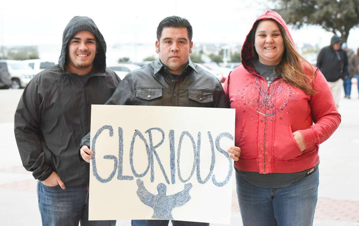 Wrestling fans head out to the Laredo Energy Arena on Tuesday, Jan. 16, 2018, to watch the WWE wrestling matches.
