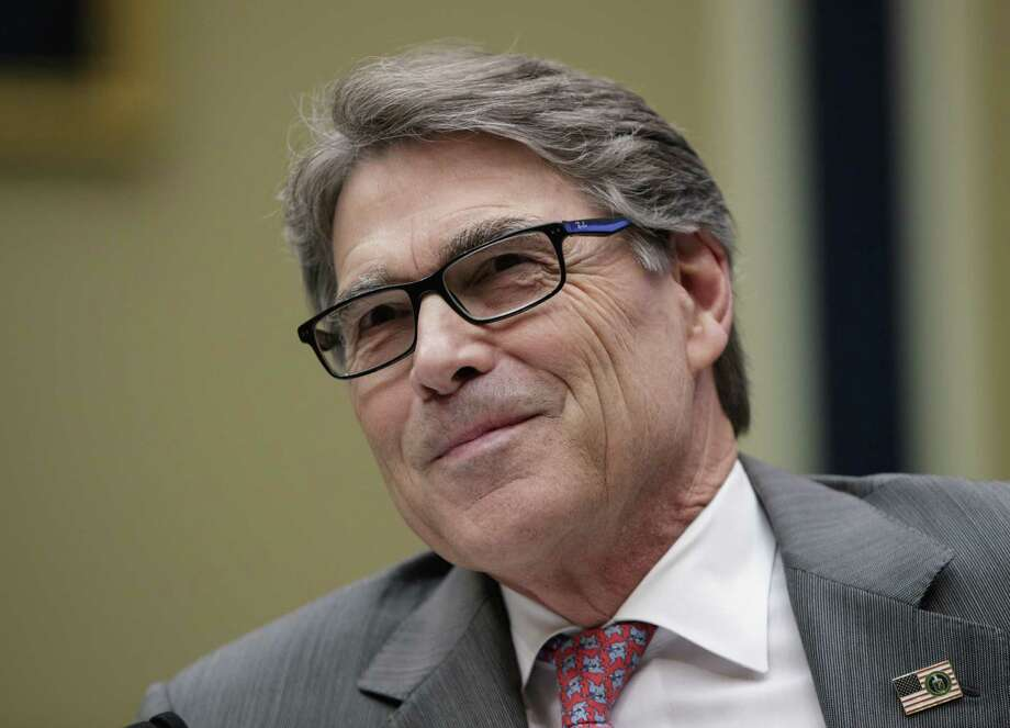 U.S. Energy Secretary and former Gov. Rick Perry endorsed Sid Miller for agriculture commissioner Thursday. Photo: J. Scott Applewhite /Associated Press / Copyright 2017 The Associated Press. All rights reserved.