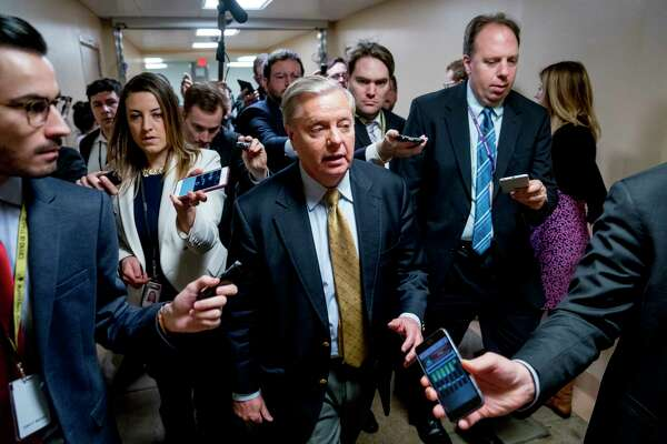 Sen. Lindsey Graham, R-S.C., heads to the Senate floor as Congress moves closer to the funding deadline to avoid a government shutdown. A showdown on immigration looms in the chamber.