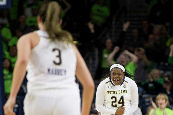 Notre Dame's Arike Ogunbowale scored 27 points for the 5th-ranked Fighting Irish as they toppled No. 6 Tennessee 84-70 at home, coming from down 23 to take the win.
