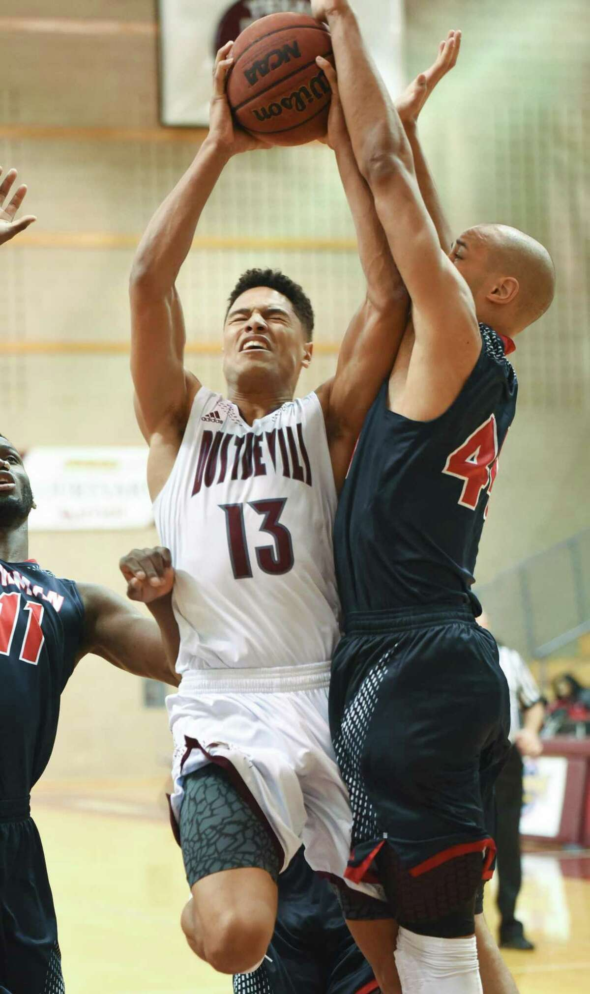 Xabier Gomez had 14 points Thursday but the Dustdevils were throttled 95-53 at Arkansas-Fort Smith, their second-largest loss in program history.