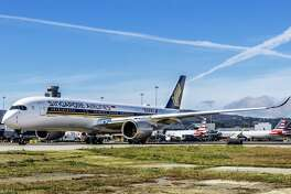Singapore Airlines was the first to deploy a new Airbus A350 on its 17-hour marathon flight between SFO and Singapore