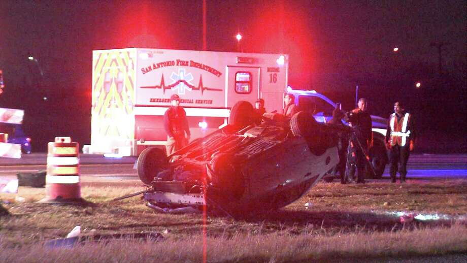 Police said the car was seen speeding and driving erratically prior to the crash around 2:40 a.m. on Highway 90 near Acme Road. Photo: Ken Branca
