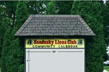 A new, modern, full color, digital display with remote electronic access, will replace the currentCommunity Calendar Sign in Sandusky. The project is being taken on by the Sandusky Lions Club. (Submitted Photo)