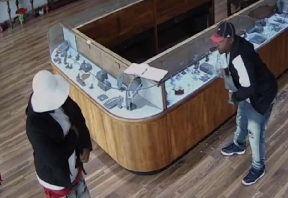 Sugar Land police are searching for two suspects in a $2 million smash-and-grab heist at Hutton`s Jewelry & Gifts, 2735 Town Center Blvd., just after 12:20 p.m. on Wednesday, Jan. 10. Photo: Sugar Land Police Department