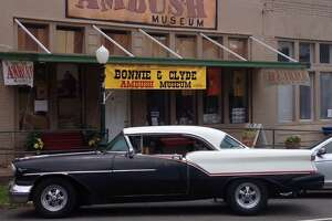 This 1957 Oldsmobile Super 88  belongs to Bobby Cliett, a member of OutKasts Car Club.