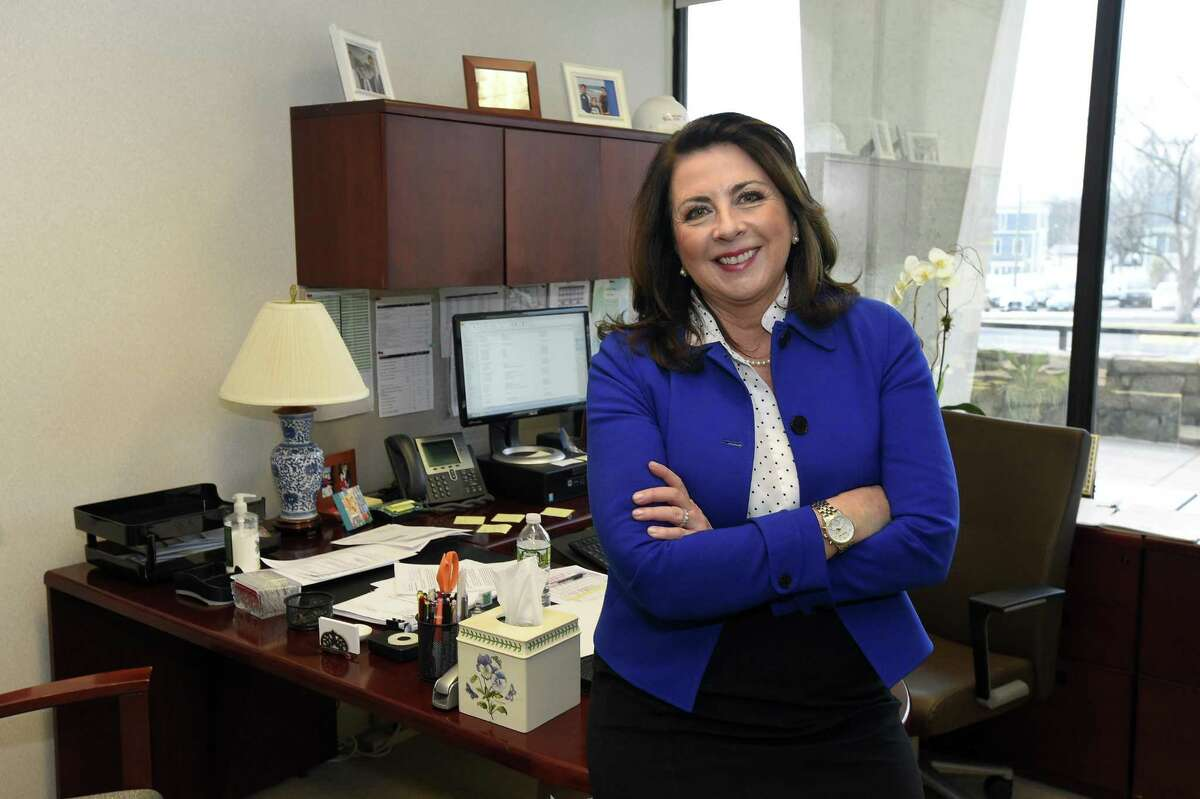 Stamford Hospital Chief Operating Officer Kathy Silard discusses the hospital's outlook for 2018, after Congress' repeal of the individual mandate and the passage of the state budget last year, at her office in Stamford, Conn., on Tuesday, Jan. 16, 2018.