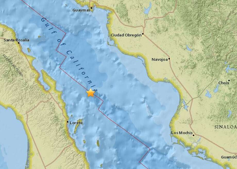 The USGS reported this quake Friday morning in the Gulf of California. Photo: USGS
