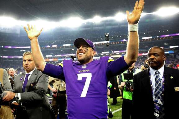 Case Keenum is on top of the world in Minnesota after his 61-yard touchdown pass put the Vikings in the NFC title game.