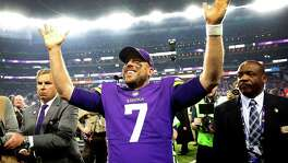 Case Keenum is on top of the world in Minnesota after his 61-yard touchdown pass put the Vikings in the NFC title game and one win from Super Bowl.