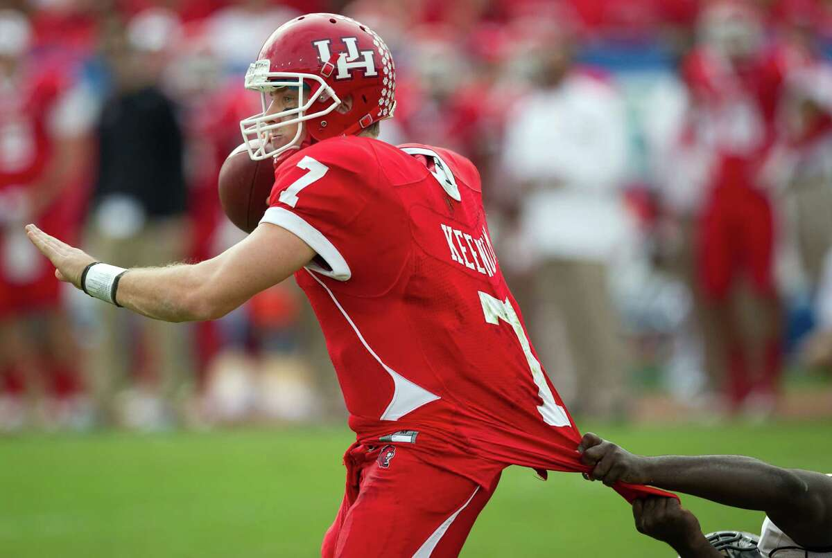 Despite his success at Houston, Case Keenum went undrafted but signed with the Texans as a free agent.
