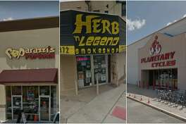 Scroll ahead to see Houston-area businesses with punny names.