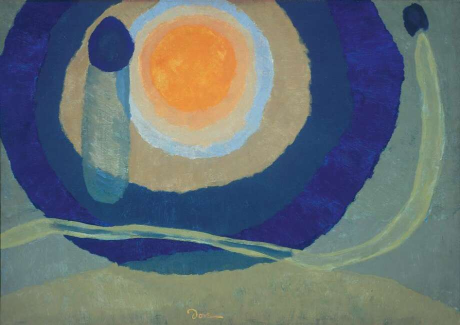 "Arthur Dove, ""Sunrise I,"" 1936. Tempera on canvas. (The Estate of Arthur Dove / Courtesy Terry Dintenfass Inc.) / Courtesy of and copyright The Estate of Arthur Dove / Courtesy Terry Dintenfass, Inc."