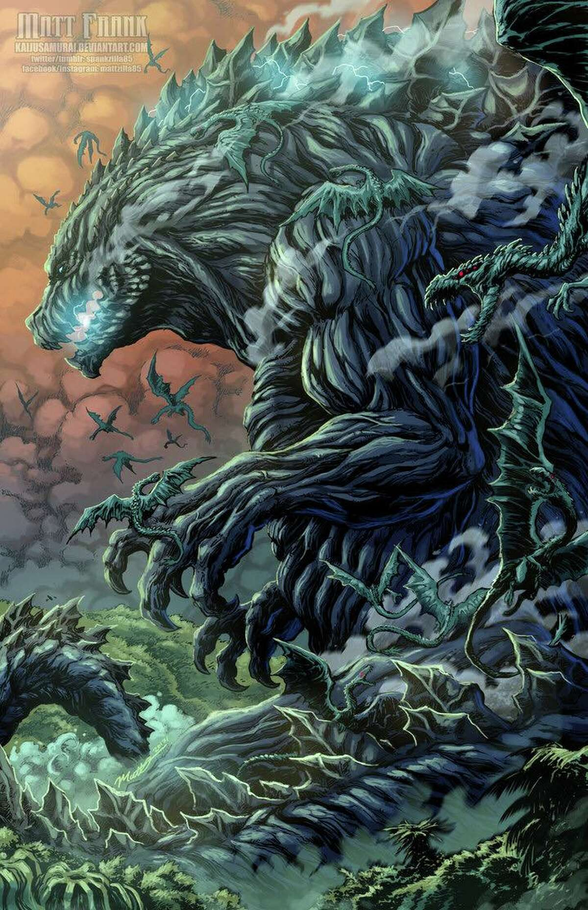 San Antonio native and professional Godzilla artist Matt Frank created this monstrously good depiction of the iconic movie monster.