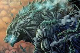 """San Antonio native and professional Godzilla artist Matt Frank is at it again with a new monstrously good depiction of the iconic movie monster. This art pays homage to the new anime film, """"Godzilla: Planet of the Monsters,"""" which is now available on Netflix."""