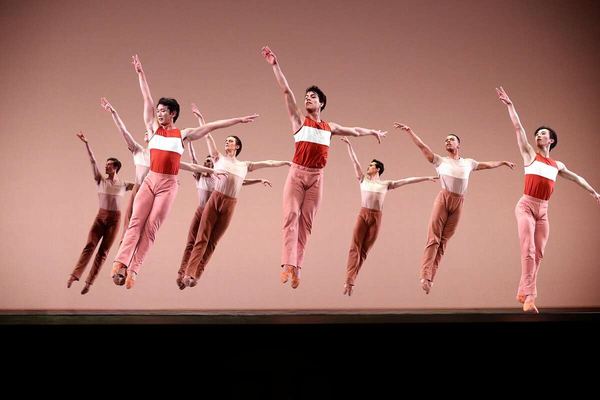 """Dancers perform """"Rodeo"""" during a dress rehearsal for San Francisco Ballet 's opening night gala at the War Memorial Opera House on Thursday, Jan. 18, 2018 in San Francisco, Calif."""