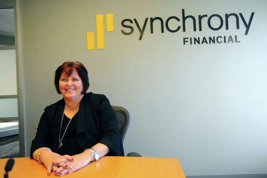 Synchrony Financial CEO and President Margaret Keane poses for a photo inside Synchrony headquarters at 777 Long Ridge Road in Stamford, Conn., on Nov. 27, 2017. Photo: Michael Cummo / Hearst Connecticut Media / Stamford Advocate