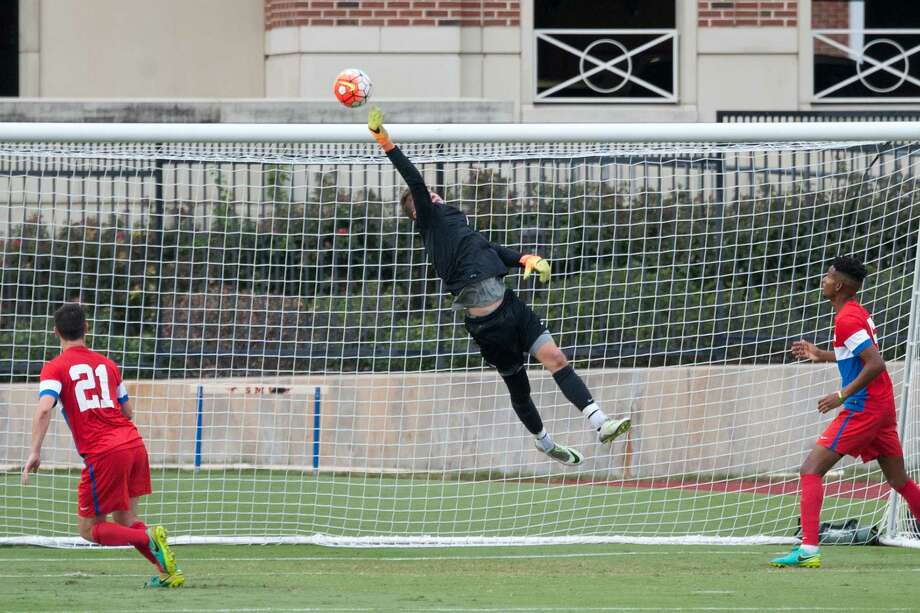 Seven Lakes graduate Michael Nelson started 44 games in three seasons for SMU. The Dynamo drafted him in the first round of the 2018 MLS SuperDraft. Photo: SMU Athletics