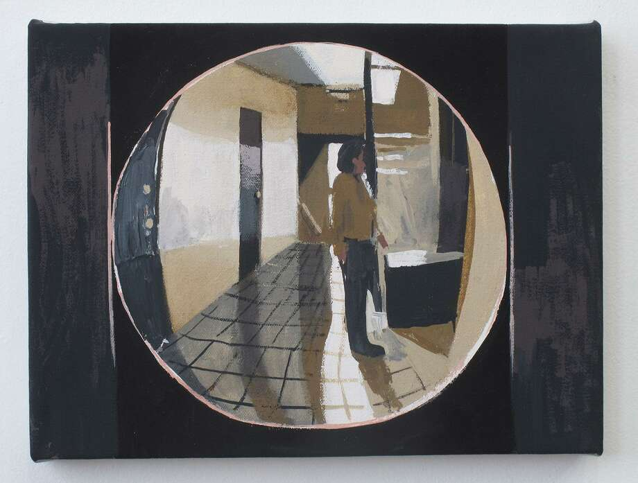 """Apartment 6F Through the Peephole,"" by Matt Bollinger, is part of a multimedia exhibit in Danbury. Photo: Western Connecticut State University /Contributed Photo"