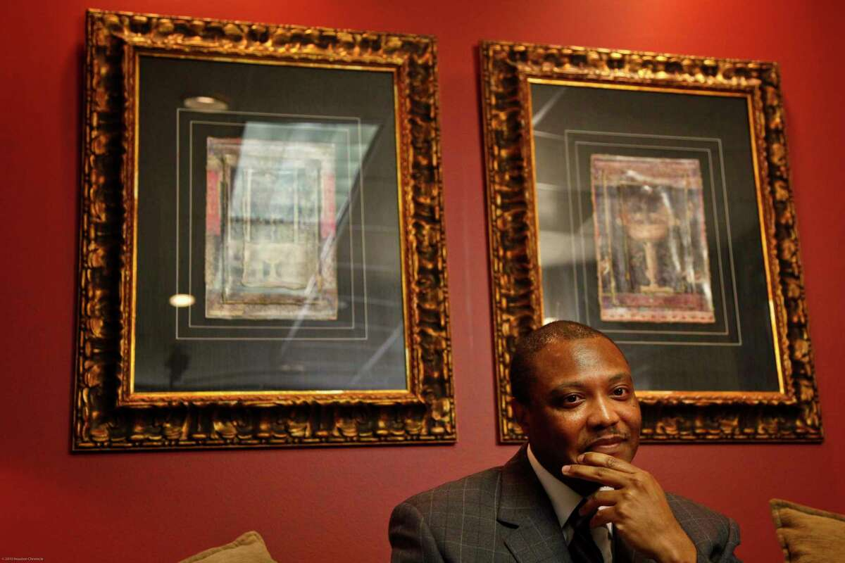 Anthony Graves reacts as he reflects on his life as a free man after recently being freed from jail after serving 18 years for a crime he didn't commit during a press conference at Katherine Scardino's law office Thursday, Oct. 28, 2010, in Houston. ( Michael Paulsen / Houston Chronicle )