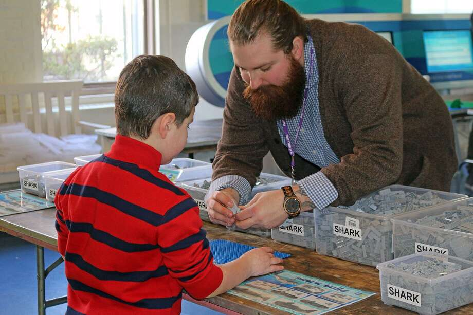 The Maritime Aquarium at Norwalk will celebrate LEGO Jan. 27 and 28. Kids can help in the creation of a giant aquarium-themed scene. Photo: Maritime Aquarium / Contributed Photo